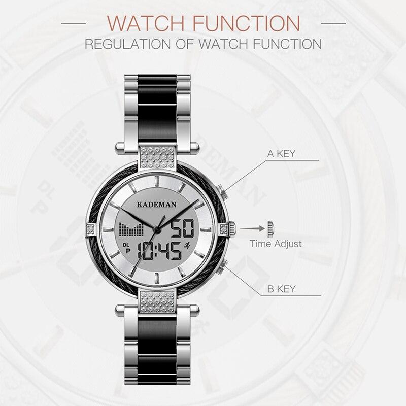 K9080 White Black Watch Women Watch Ladies Creative Steel Women's Bracelet Watches Female Clock Relogio Feminino Montre Femme enlarge