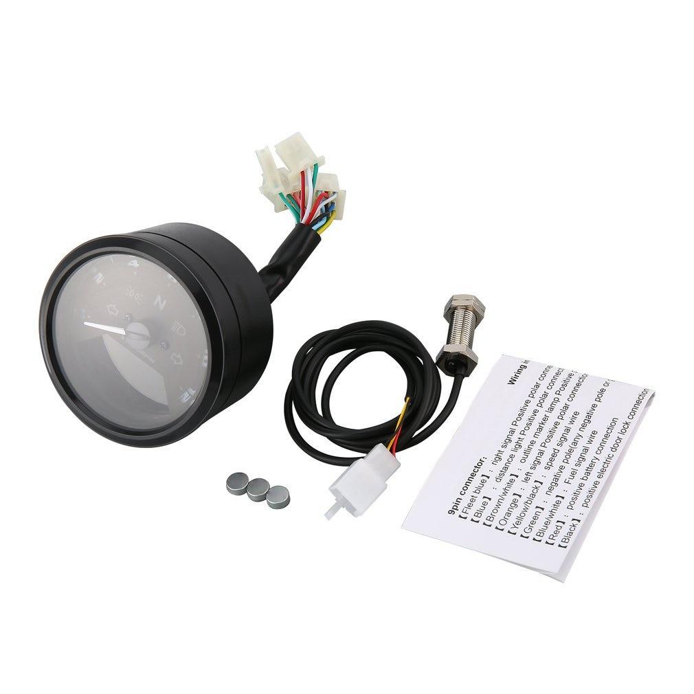 2018 12000 RMP kmh/mph Universal LCD Digital odómetro velocímetro tacómetro engranaje indicador motocicleta Scooter Golf carros ATV