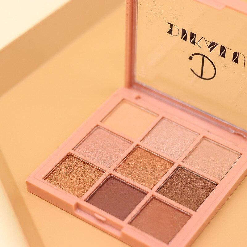 9 couleurs/ensemble neuf carré grille ombre à paupières Palette nacrée mat terre couleur durable étanche à la sueur maquillage fard à paupières TSLM1