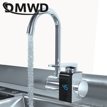 DMWD Instant Electric Heating Tap Faucet Kitchen Tankless Instantaneous Hot Water Heater Bathroom Te