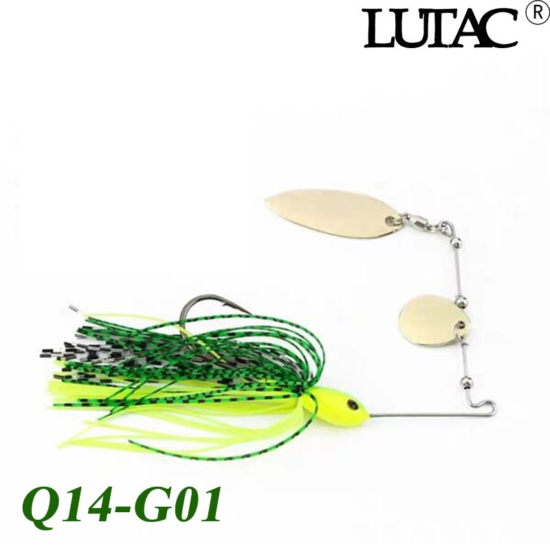 2020 New LUTAC Spinner bait 7g/10g/14g Fishing Double Spoon Lure Metal hard Wobbler fishing tackle