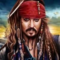 gatyztory pirate captain of the caribbean diy mosaic diamond painting full drill square home decor handmade gift