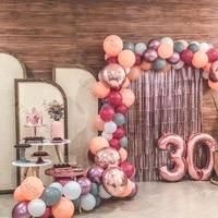 birthday party balloon garland kit decoration matte peach matte deep hot pink balloon arch wedding anniversary baby shower decor