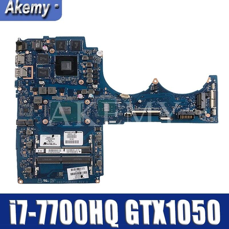 AKEMY ل For HP 15-CB045WM 15-CB اللوحة المحمول W/i7-7700HQ CPU GTX1050 4GB DAG75AMBAD0 926305-601 926305-501 926305-001