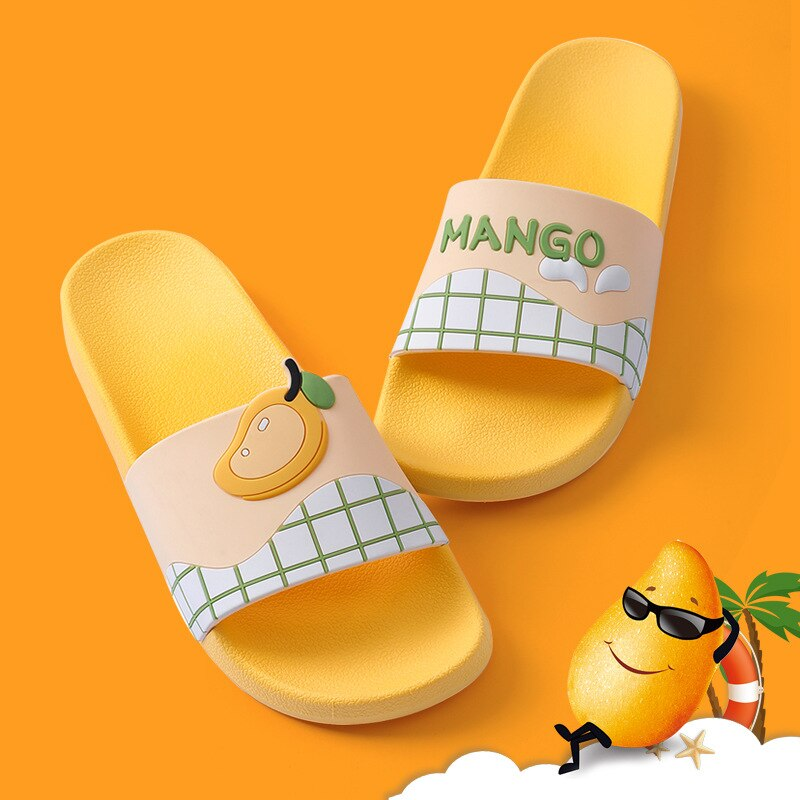 Summer Womens Slippers Outdoor Non Slip Comfortable Couple Casual Sandals Female Fruit Men Bathroom Big Size