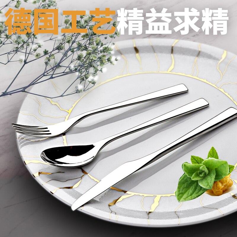 Talheres conjunto de talheres louça colher-garfo jantar cantina faca ao ar livre almoço aço inoxidável faqueiro inox louça bk50ds