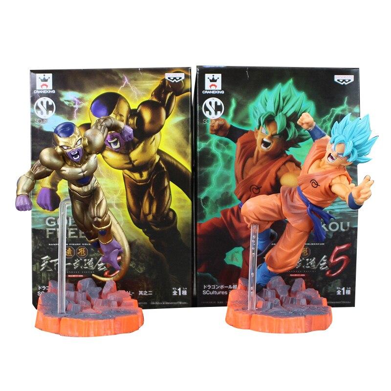 14CM de Dragon Ball Z Super Saiyan Goku hijo Freezer congelador forma definitiva Anime contra edición Esfera de PVC figuras de acción de juguete