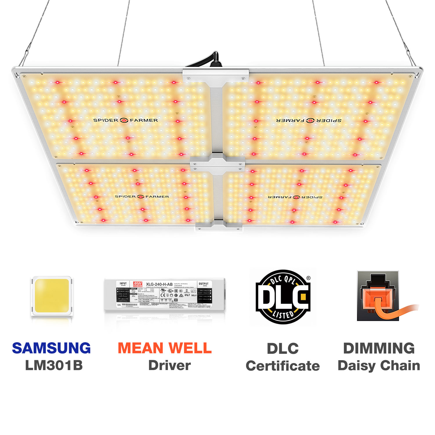 Spider Farmer SF 4000W LED Grow Light 450W Samsung Led LM301B Dimmable Phytolamp Full Spectrum Quantum Board for Indoor Plant enlarge