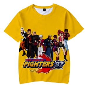 Kid's Cool The King Of Fighters 3D O-Neck T-shirts Women/Men Summer Short Sleeve Tshirts Casual Harajuku Kpop Clothes Tee