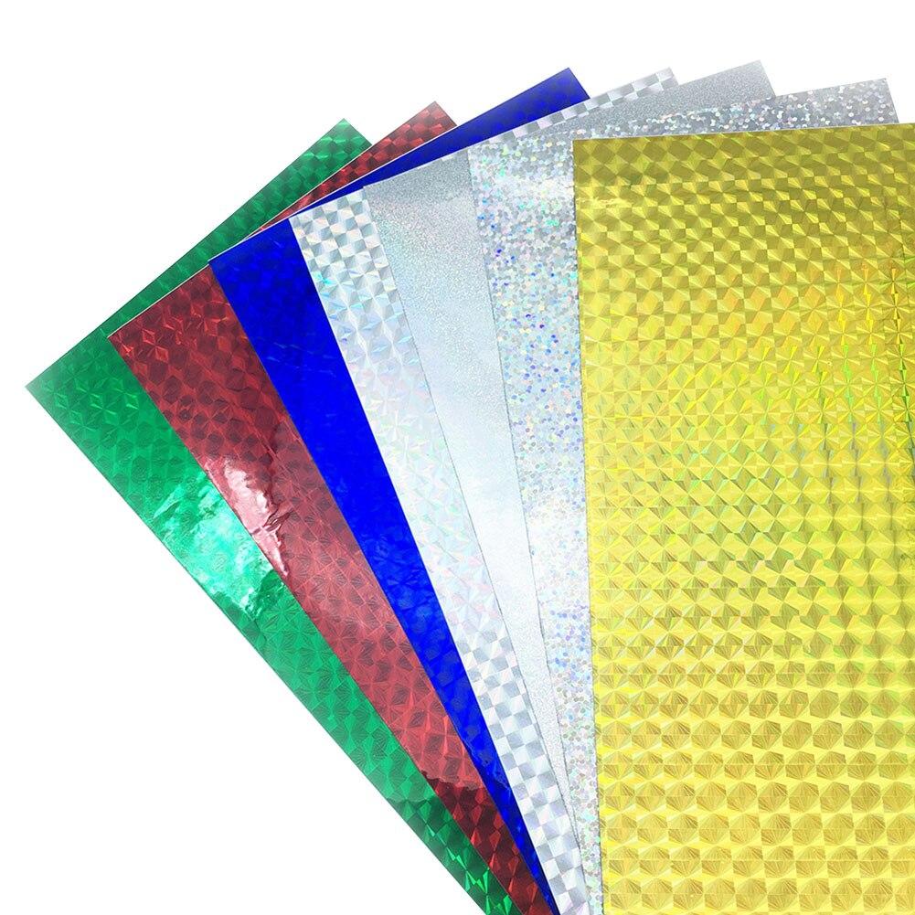 Venta caliente 10 hojas holográfica reflectante señuelo de pesca cinta para hacer prisma cinta