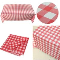 1pc red oil cloth yardage tablecloth gingham check one time wedding party