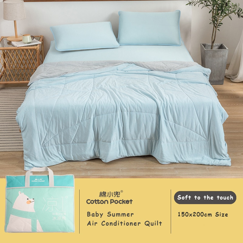 Baby Comforter Cotton Gauze Large Size Children's Cover Summer Quilted Blanket for Mother Kids Using 150x200cm