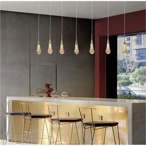 Modern Golden Luxury Crystal Pendant Lights Staircase Living Room Interior Decor Nordic Villa Pendant Lamp Bedroom Hanging Lamp