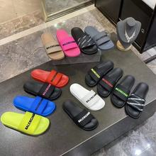 2021 New Balenciaga- fashion Men Women sandals Ladies Flip Flops Loafers Black White Red Green Slide