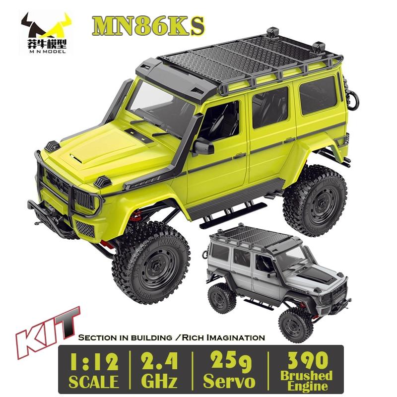 G500 MN86KS 1/12 MN Car KIT 2.4G 4WD 230MM Wheelbase Crawler Off Road 390 Brushed Motor Truck WPL MN