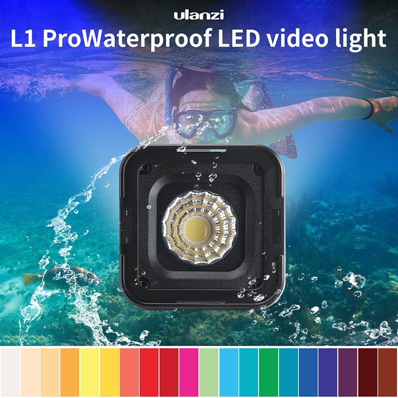 Ulanzi L1 Pro impermeable regulable LED Mini luz para Gopro DSLR Dji cardán versátil Mini Camping luz iluminación para ciclismo