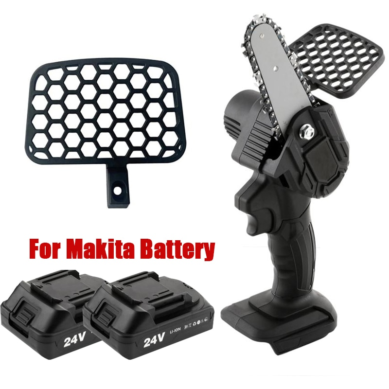 6 inch 1200w mini electric chain saw with battery indicator 128vf 388vf rechargeable woodworking tool for makita 18v battery Portable Electric Pruning Saw For Makita Battery Rechargeable Mini Cordless Electric Saw Woodworking Chain Saws Garden Logging
