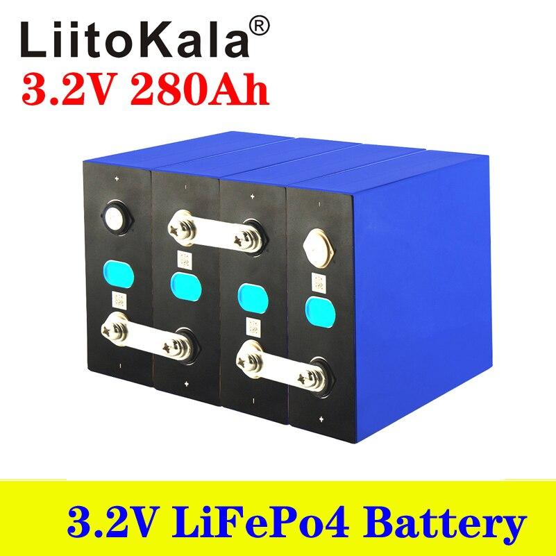 Умное устройство для зарядки никель-металлогидридных аккумуляторов от компании LiitoKala: 3,2 v 280Ah lifepo4 аккумулятор для е-скутер способный преодолевать Броды для хранения энергии солнечной системы 12 v 280ah без 3,2 v 200ah перезаряжаемый аккумулятор