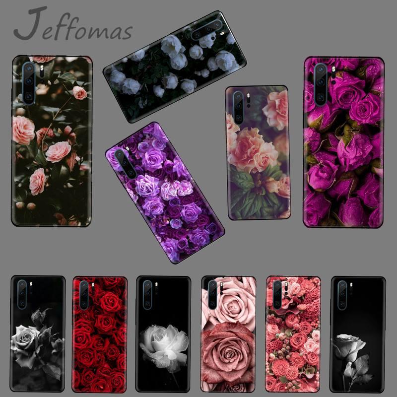 retro pink rose flowers Unique Design Phone Cover For Huawei P9 P10 P20 P30 Pro Lite smart Mate 10 Lite 20 Y5 Y6 Y7 2018 2019