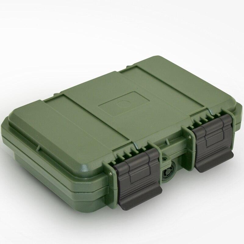 228x182x46mm de plástico a prueba de agua caja de herramientas a prueba de golpes a prueba hermético contenedor de caja de almacenamiento resistente al otoño estuche de seguridad