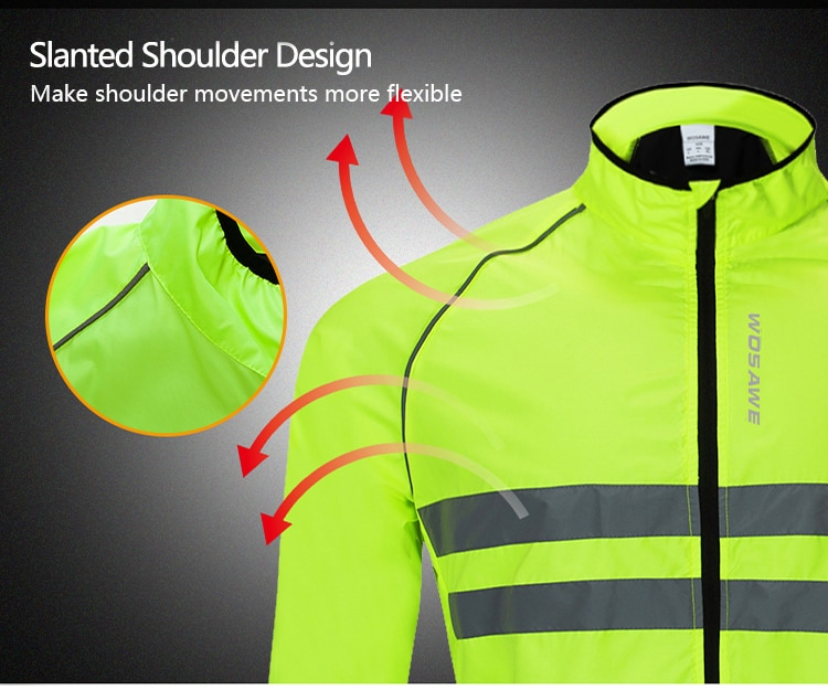 WOSAWE Waterproof Motorcycle Jacket High Visibility Windbreaker Waistcoat Reflective Racing Safety Off-Road MTB Moto Jacket Men enlarge