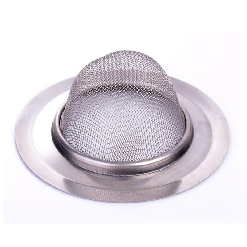 2 pcs New Kitchen Drain Strainer Home Sink Stainless Steel Mesh Strainer