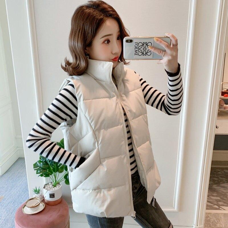 Женская хлопковая куртка, мешковатая куртка с воротником, Осень-зима, Chaleco Mujer