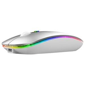 Bluetooth мышь Bluetooth Двухрежимная мышь беспроводная перезаряжаемая беззвучная мышь для телефонов ноутбуков планшетов