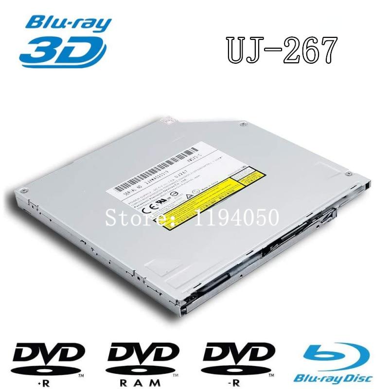 جديد سوبر سليم 6X BD-R BD-RE 100 جيجابايت بلو راي الموقد ، لباناسونيك UJ267 UJ-267 ، 8X DVD +-R الكاتب CD-RW الأجزاء الداخلية للكمبيوتر المحمول 9.5 مللي متر SATA