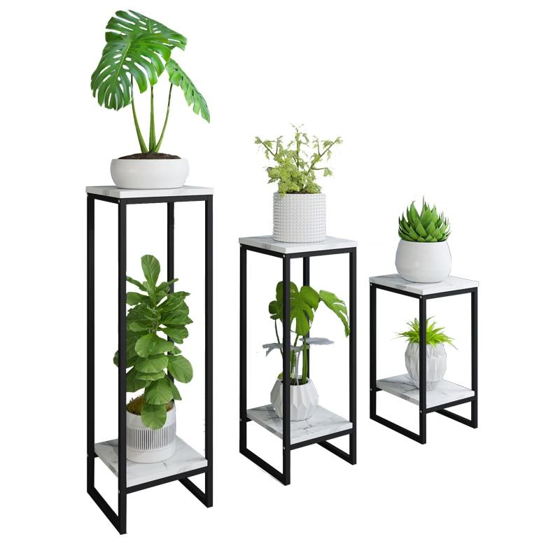 Nordic flower stand wrought iron living room indoor floor flower pot stand home decoration shelf rack balcony  plant shelf недорого