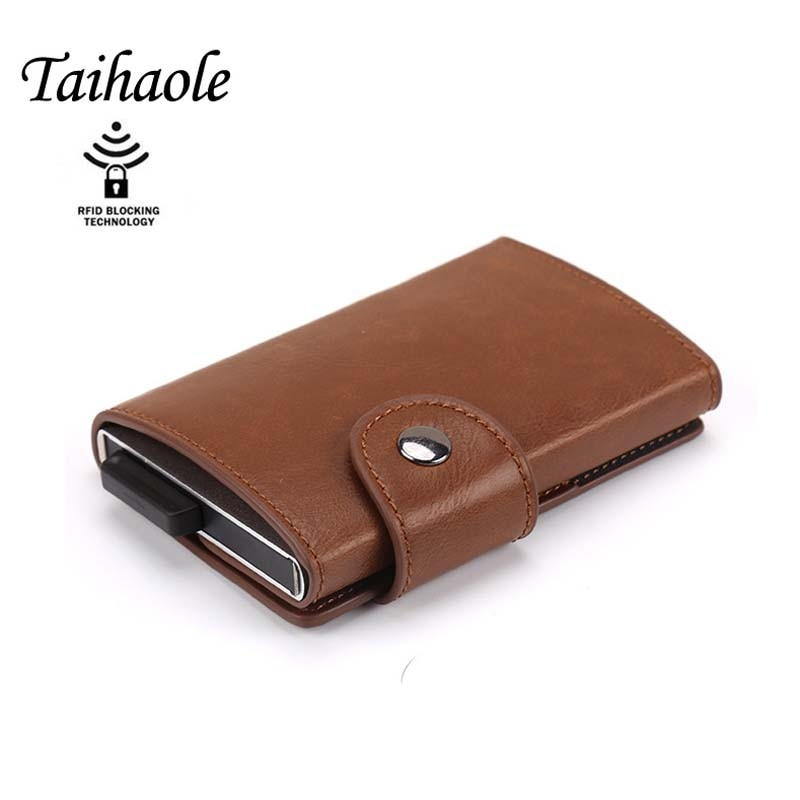 Anti-thief Men Credit Card Holder RFID Blocking Purse for Men Wallet ID Card holder Bank Business Cards Wallets Hasp PU Leather mva men genuine leathre wallet men s card holder bank credit card holder for men purse men id holder vintage male leather holder