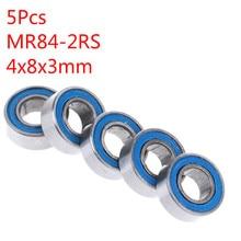 5 قطعة الأزرق 4*8*3 مللي متر MR84RS MR84-2RS 4x8x3 مللي متر المطاط حلقة مانعة للتسرب محامل