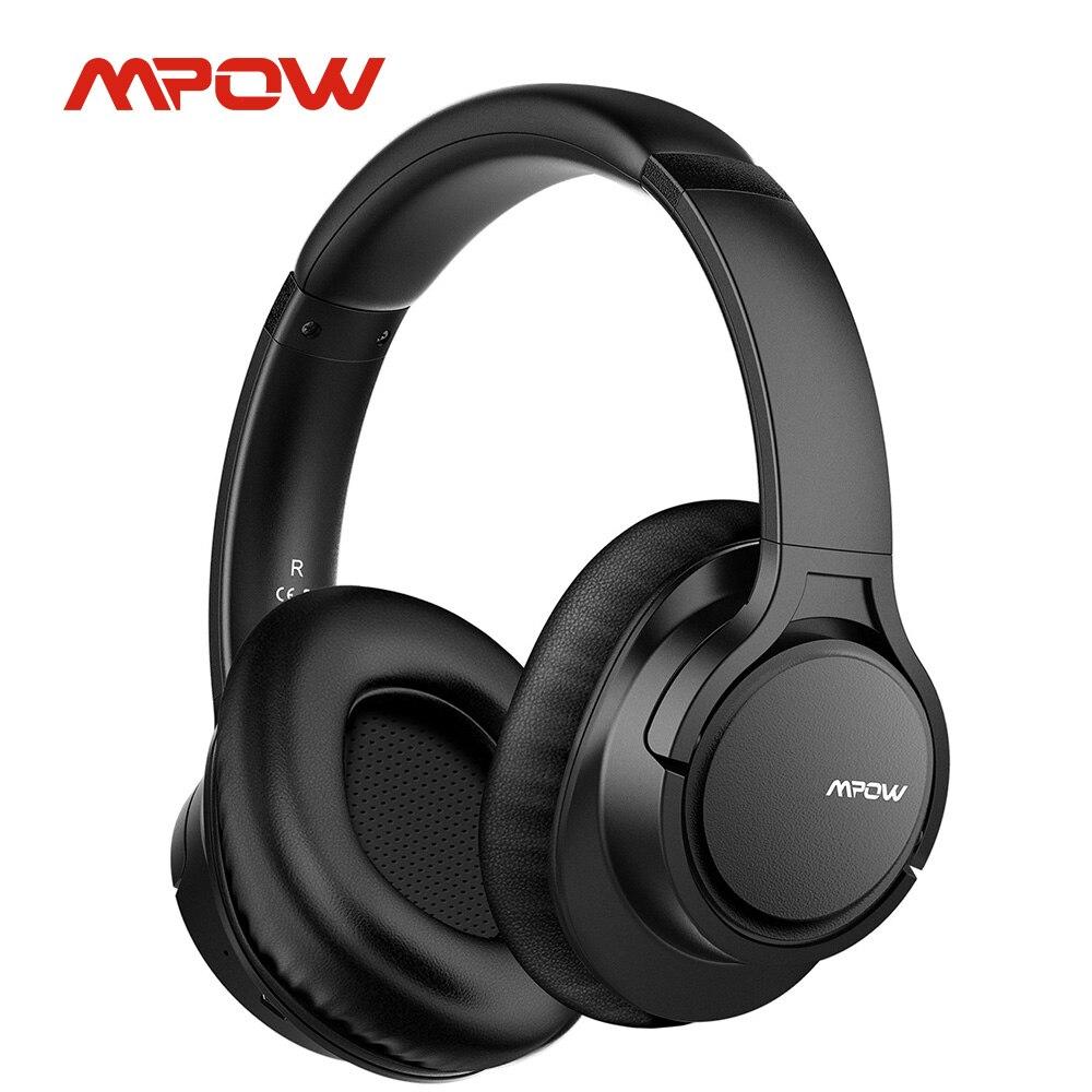 Mpow-سماعة رأس بلوتوث لاسلكية للكمبيوتر اللوحي والتلفزيون والكمبيوتر الشخصي والهواتف المحمولة مع وسادات أذن من البروتين الناعم