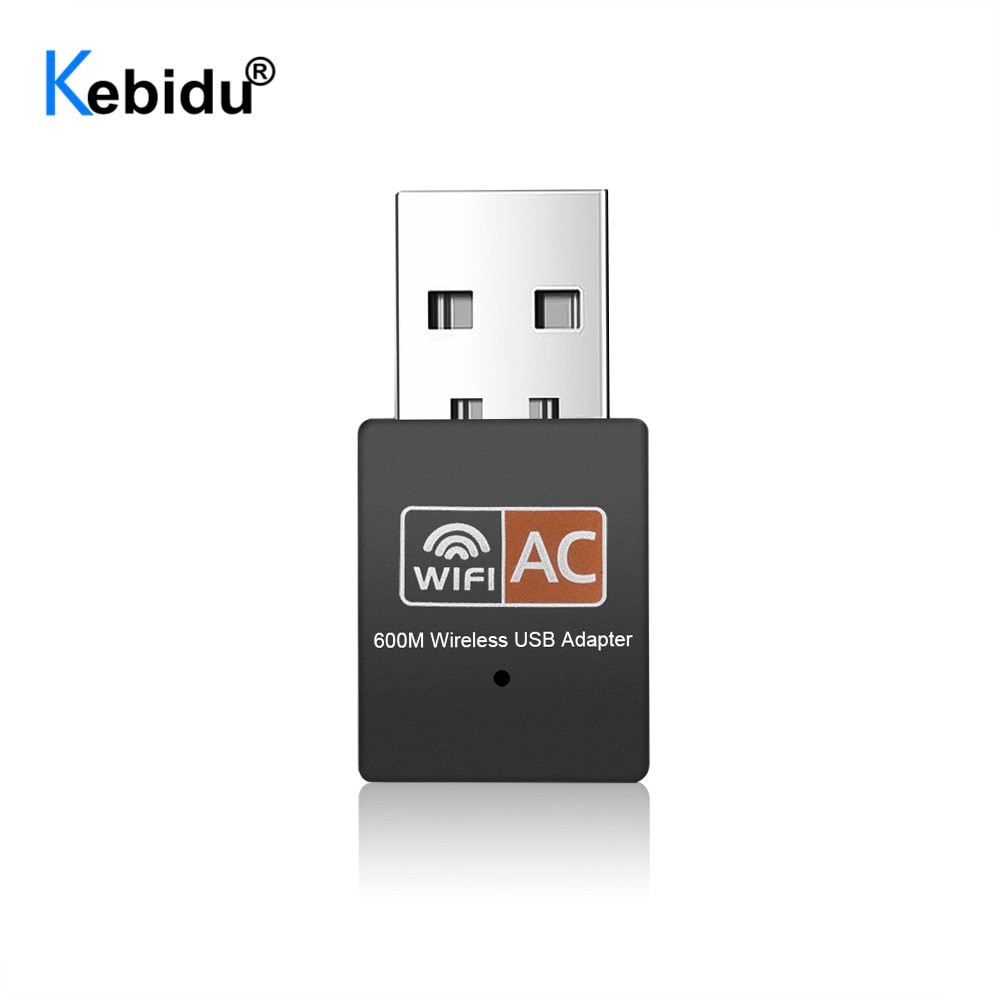 Kebidu 600Mbps adaptador WiFi USB inalámbrico de banda Dual 2,4 Ghz 5Ghz Wi-Fi USB Lan Ethernet receptor tarjeta de red 802.11ac