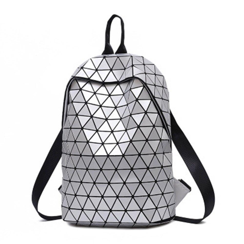 Mochilas luminosas para mujer, mochila geométrica para ordenador portátil, mochila de hombro para hombres, mochila holográfica escolar para mujer, bolso escolar Trave