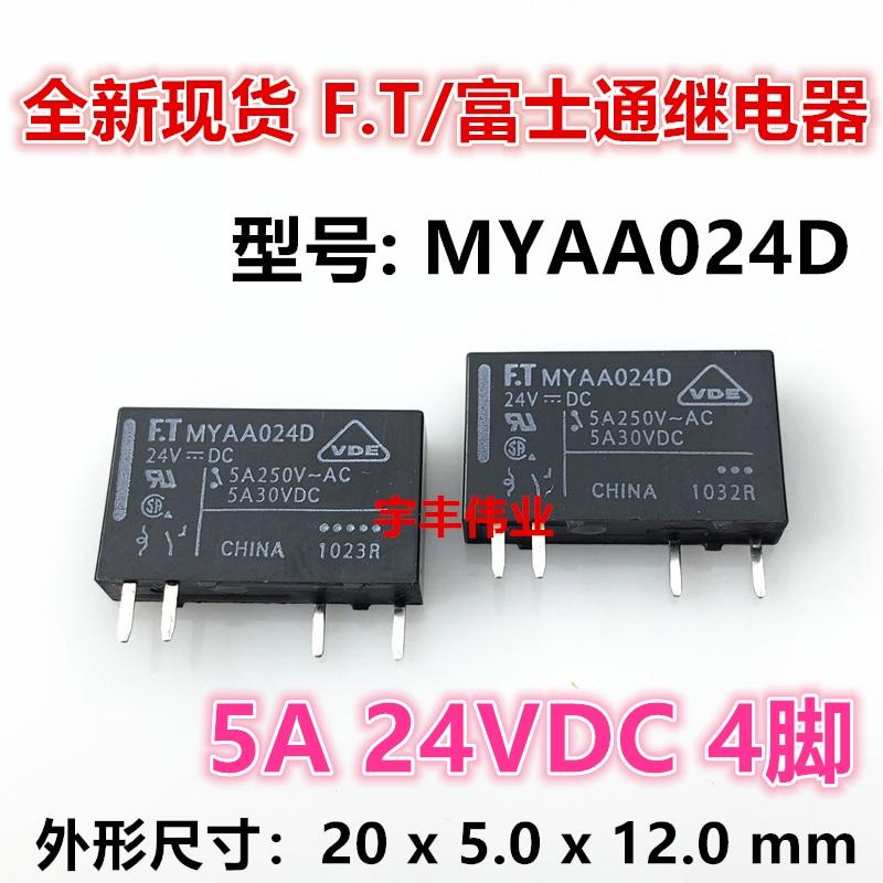 new original relay 10pcs lot myaa024d myaa024d 24vdc 24v 5a 4pin 10PCS/LOT  FTR MYAA024D  24VDC 5A 4 24V