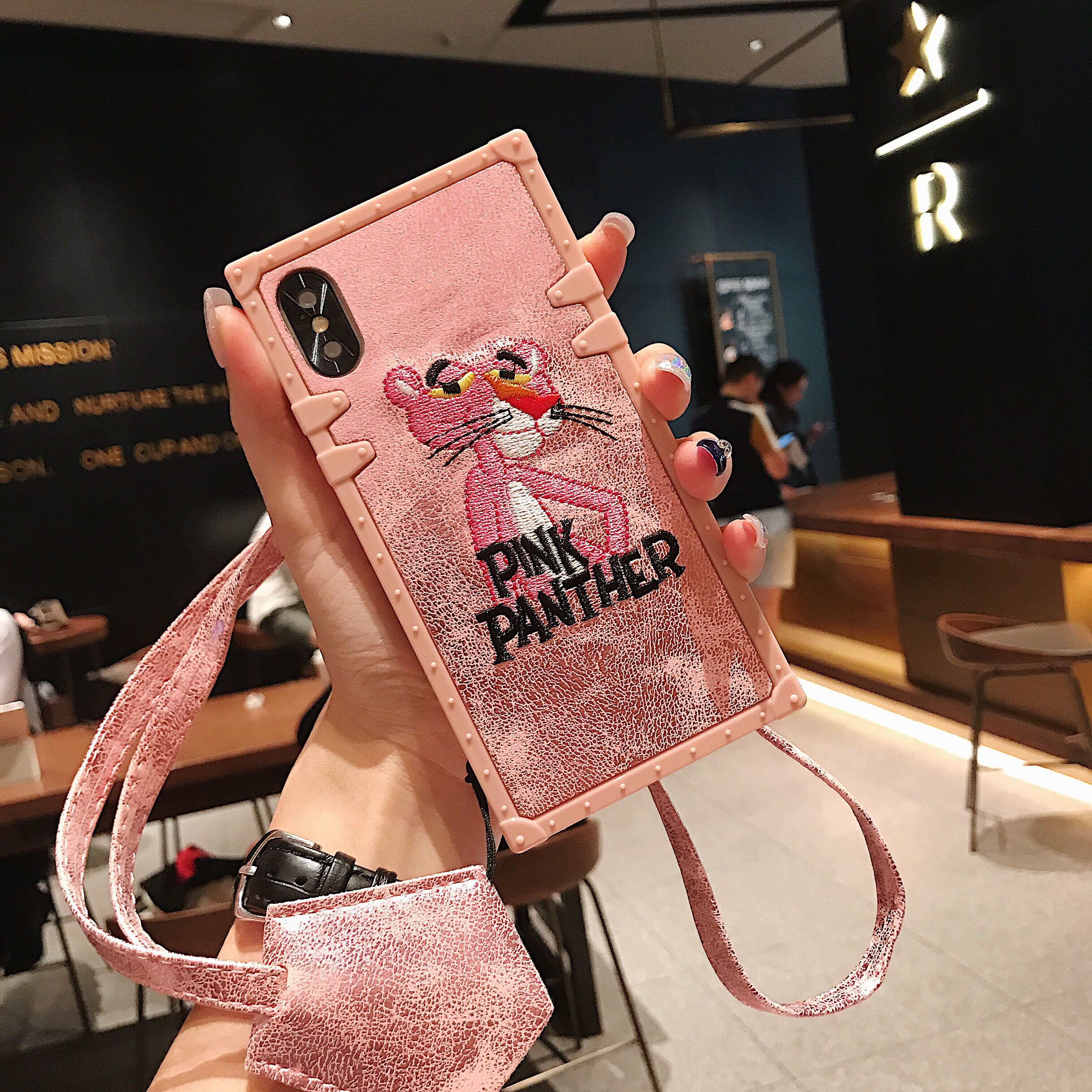 Barbie Pantera Rosa, marca de moda de dibujos animados comics, funda de teléfono móvil resistente a roturas, adecuada para iphone6 a iphone11Pro