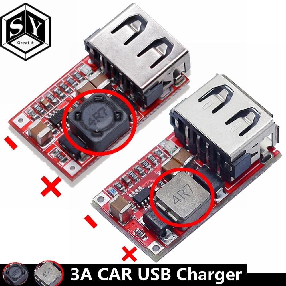 1PCS Große ES Feine 6-24V 12V/24V zu 5V 3A AUTO USB ladegerät Modul DC Buck step down Converter 12v 5v netzteil modul