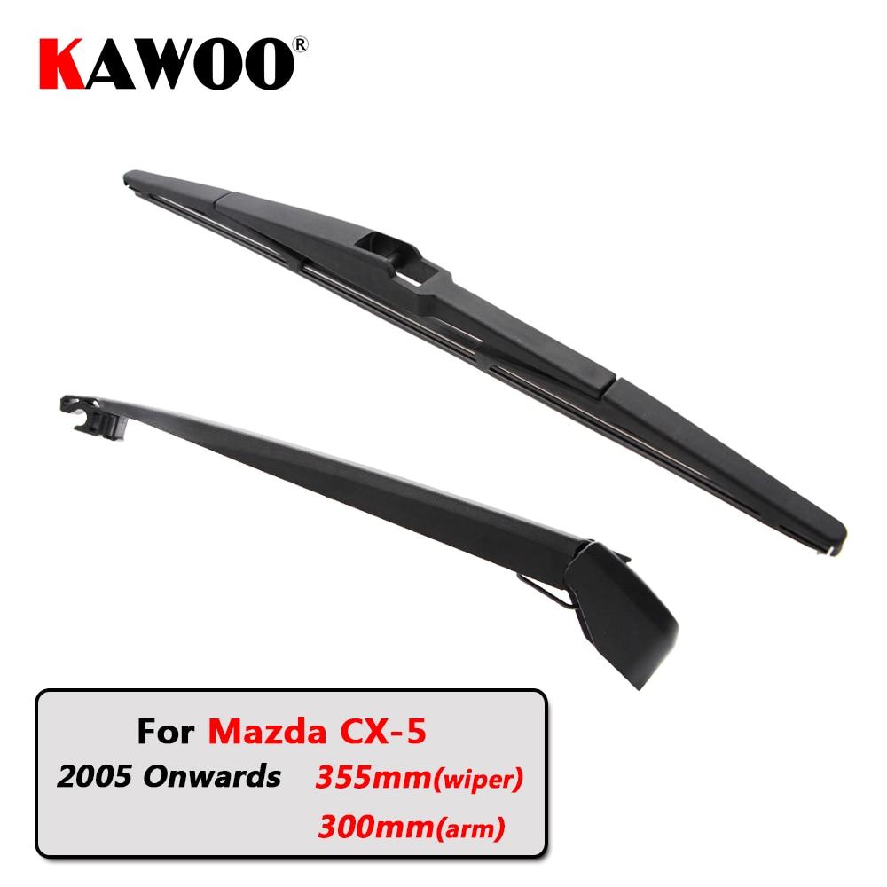 KAWOO Car Rear Wiper Blade Blades Back Window Wipers Arm For Mazda CX-5 Hatchback (2005 Onwards) 355mm Auto Windscreen Blade