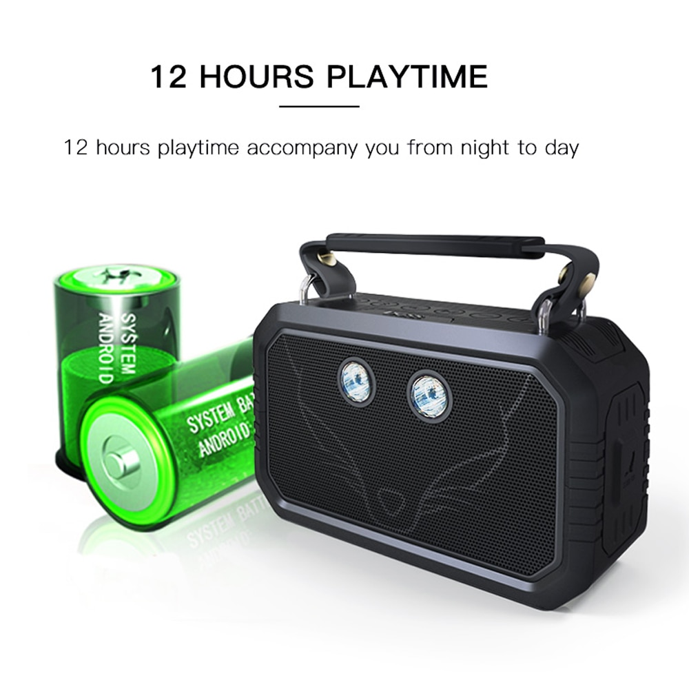 DOSS Traveler Portable Outdoor Bluetooth Speaker Wireless Stereo Bass Sound Box IPX6 Waterproof Bicycle Speakers + SOS LED Light enlarge