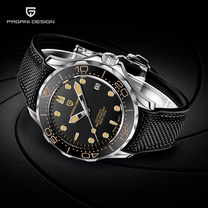 PAGANI DESIGN Men's Watches 007 Commander Top Brand Luxury Mechanical Automatic Watch Men Sport Stainless Steel Clock Japan NH35 pagani design new 007 commander men s mechanical watches top brand luxury watch men 100m automatic waterproof fashion wristwatch