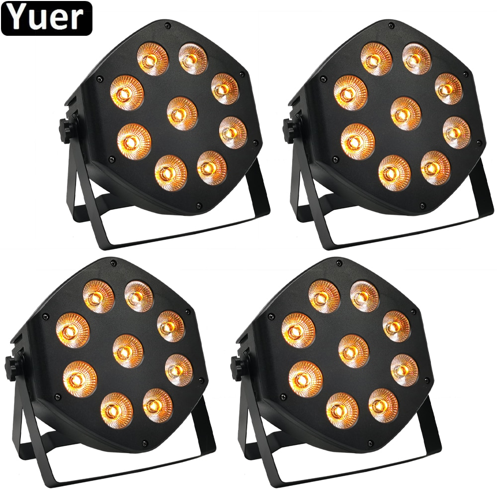 4Pcs/Lot LED Par 9X10W LED Remote Control Wash Light RGBW 4IN1 LED Light Stage DJ Light DMX512 LED Par Party Disco Effect Lights