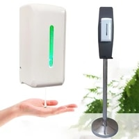 automatic alcohol hand sanitizer dispenser smart sensor liquid soap electric touchless gel wall mounted with stand
