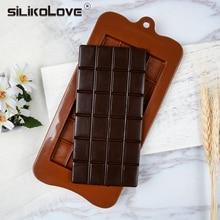 SILIKOLOVE-moldes para hornear Chocolate en 3d, moldes antiadherentes de silicona para barra, moldes para hornear DIY, 24 cavidades