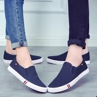 summer platform shoes slip on loafers flat men comfortable mens casual shoes brand fashion breathable canvas walking shoes