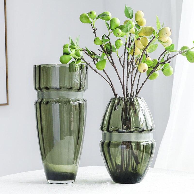 إناء أزهار أوروبي عتيق مزهريات زجاجية إكسسوارات ديكور منزلي غرفة المعيشة عرض تشكيلة زهور Hrdroponics Artware