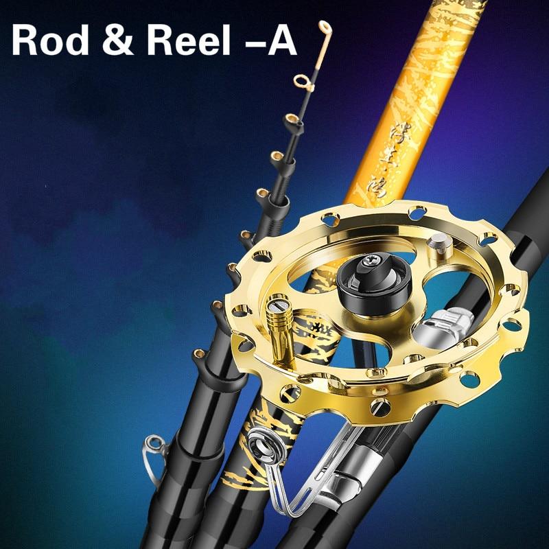 4.5m 5.4m 6.3m 7.2m Front-end Fishing Rod Three Positition Telescopic Wedkarstwo Olta Carbon Fiber Stream Rod Fishing Sticks enlarge