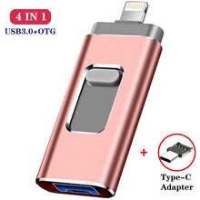 Для iphone Lightning ios с поддержкой OTG флеш-накопитель Флешка type c флеш-накопитель USB type-c USB флэш-накопитель 16 Гб оперативной памяти, 32 Гб встроенной п...