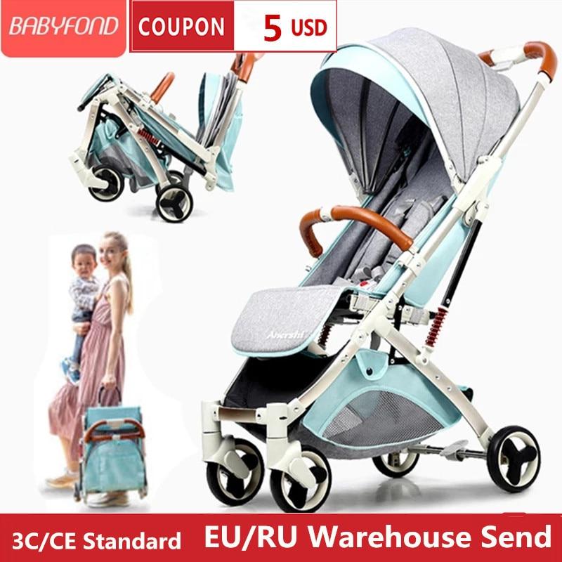 عربة أطفال خفيفة مصنوعة من سبائك الألومنيوم ذات نوعية جيدة 5.8 كجم عربة أطفال للسفر هدايا مجانية للأطفال حديثي الولادة