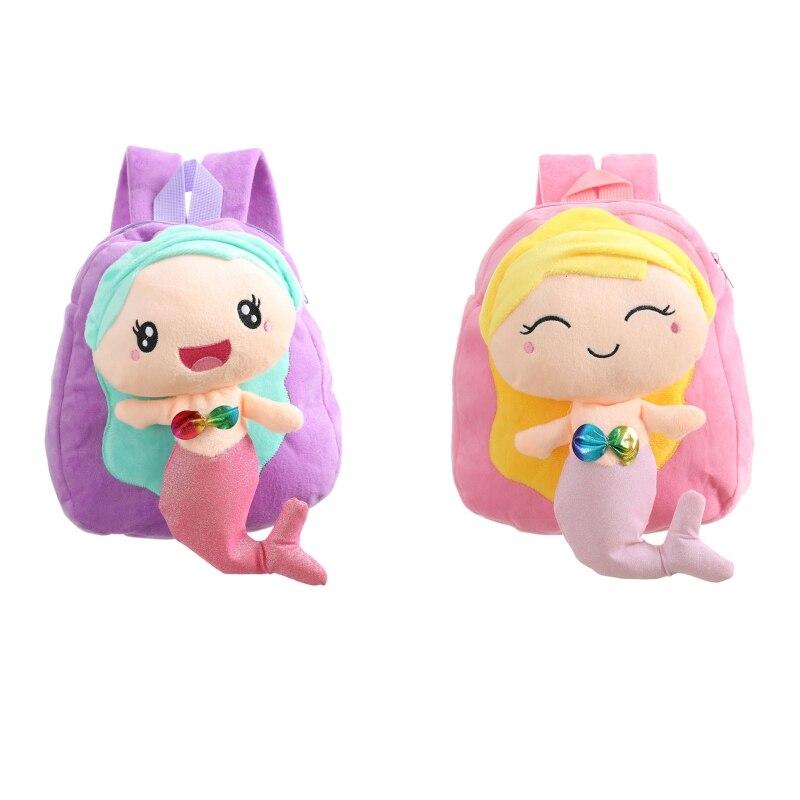 Детский плюшевый Детский рюкзак для девочек, школьный рюкзак, милый рюкзак, маленький дорожный рюкзак